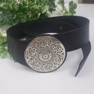 Chico's genuine leather medallion buckle